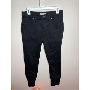 Madewell High Rise Black Skinny Jeans size 29